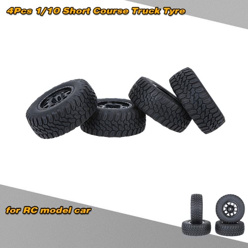 Buy 4Pcs/Set 1/10 Short Course Truck Tire Tyres Traxxas HSP Tamiya HPI Kyosho RC Model Car