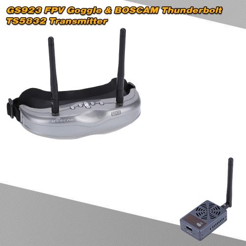 BOSCAM Thunderbolt TS5832 5.8G 2000mW 32CH Wireless Transmitter+GS923 5.8G 32CH FPV Goggle RC Set