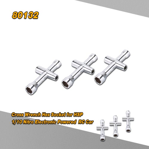 3Pcs 80132 4mm 5mm 5.5mm 7mm Small Cross Wrench Hex Socket Repairing Tools for 1/10 Nitro Electronic Powered HSP Off-road Truck Buggy On-road Car