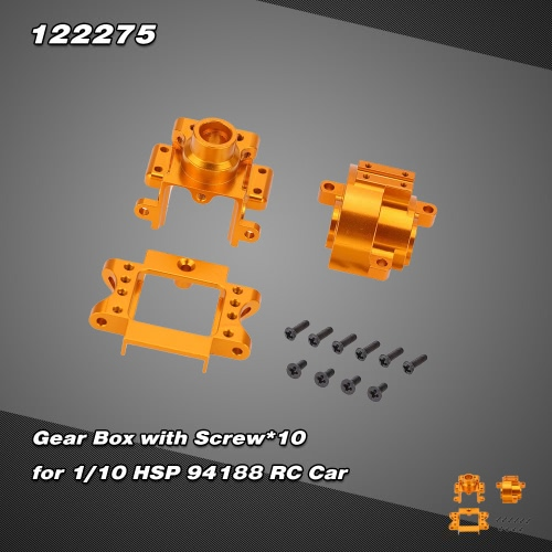 122275 Upgrade Part Aluminium Alloy Gear Box for 1/10 HSP 94122 94188 Nitro Powered Off-road Buggy