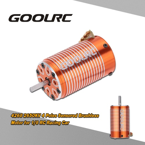 Buy GoolRC 4268 2650KV 4 Poles Sensored Brushless Motor 1/8 RC Racing Car Truck Truggy Road