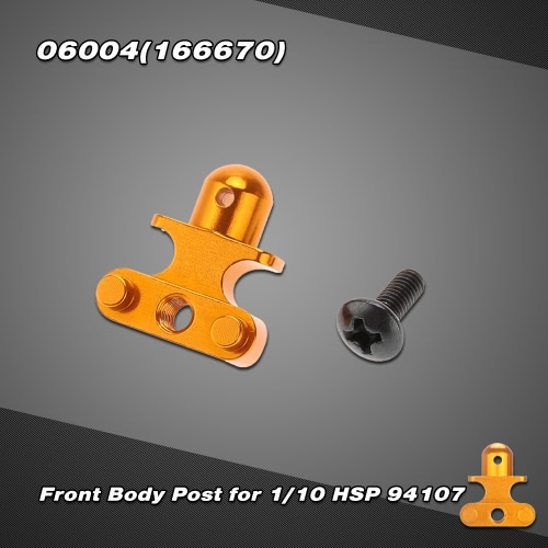06004 (166670) Upgrade Part Aluminum Alloy Front Body Post for 1/10 HSP 94107 Off-road Buggy