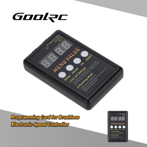 Buy GoolRC Programming Card Brushless Electronic Speed Controller