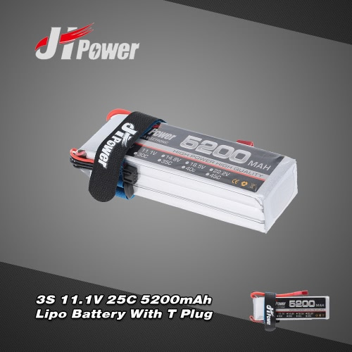 Buy JHpower 11.1V 5200mAh 25C 3S LiPo Battery T Plug RC Car Airplane Helicopter