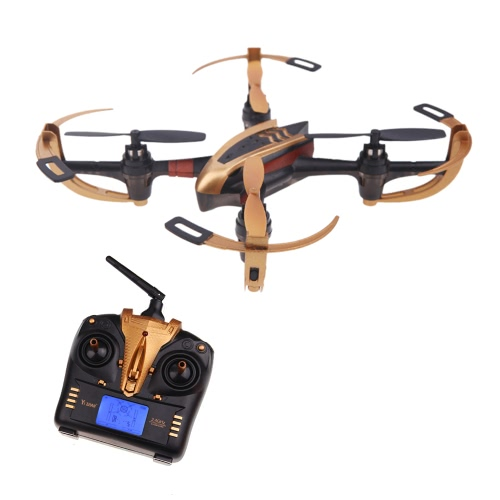 Buy Yizhan Golden X4 4CH 2.4G 6 Axis Radio Controll Quadcopter Model Toys UFO 3D Flying Saucer Transmitter LCD Display (Yizhan Quadcopter;4CH Quadcopter;Toys Saucer)