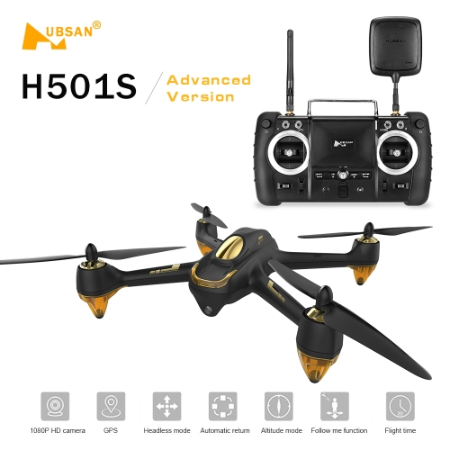 Hubsan X4 H501S H501SS 5.8G FPV  Brushless Advanced Version Drone RC Quadcopter от Tomtop.com INT