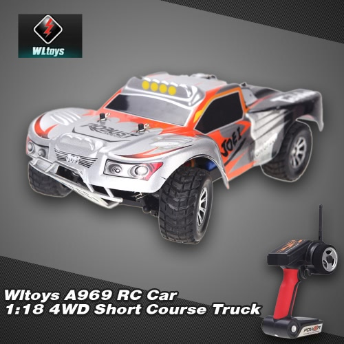 Buy Wltoys A969 RC Car 1:18 Scale 2.4GHz RTR 4WD Short Course Truck