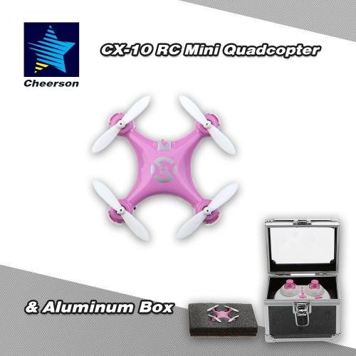 Buy Original Cheerson CX-10 2.4G 6-Axis Gyro RTF Mini Drone Quadcopter & Aluminum Box
