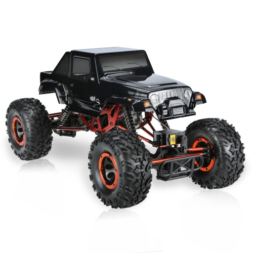 Buy Original HSP 94180T2 1/10 2.4Ghz 2CH 4WD Eletronic Powered Brushed Motor RTR Rock Crawler RC Car One Servo