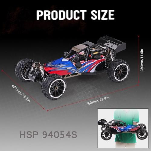 Buy Original HSP 94054S Bajer 1/5 2.4Ghz 2CH 4WD 32CC Gasoline Powered Desert Buggy RTR Remote Control Car
