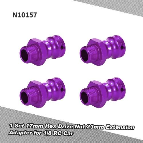 Buy N10157 Aluminum Alloy 17mm Hex Drive Nut 23mm Extension Adapter Pin 1/8 HSP 94862 94880 Crawler RC Car