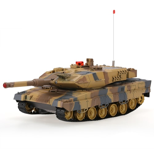 Buy HUAN QI 516-10 1/24 Scale German Leopard u2161 A6 Infrared Fighting RC Battle Tank Sound Lights Toys