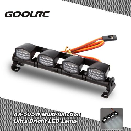 Buy Original GoolRC AX-505W Multi-function Ultra Bright LED Lamp Light 1/8 1/10 HSP Traxxas TAMIYA CC01 4WD Axial SCX10 Monster Truck Short Course RC Car
