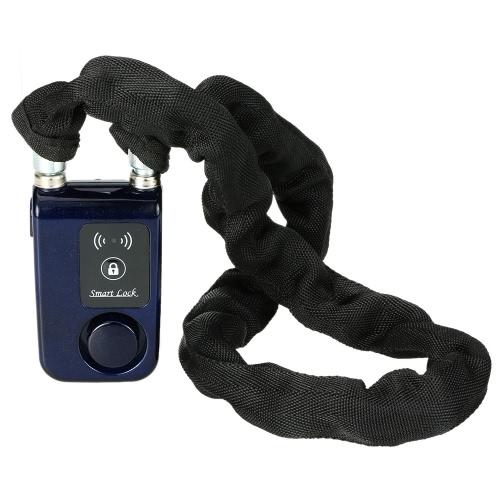 Buy Bluetooth 80cm Blue Chain Smart Lock Anti Theft Alarm Keyless Phone APP Control