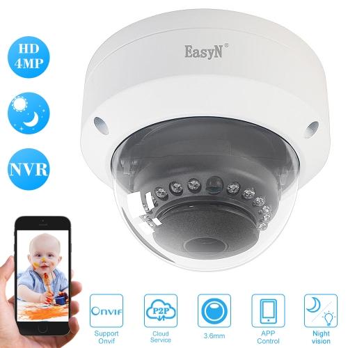 EasyN HD 4MP POE Dome IP Camera,free shipping $51.99 (Code:SPOEC8)