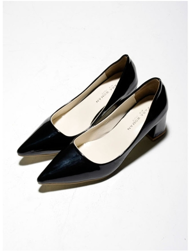 Buy Sexy Fashion Women Heels Low Cut Vamp Pointed Toe PU Leather Shoes Black