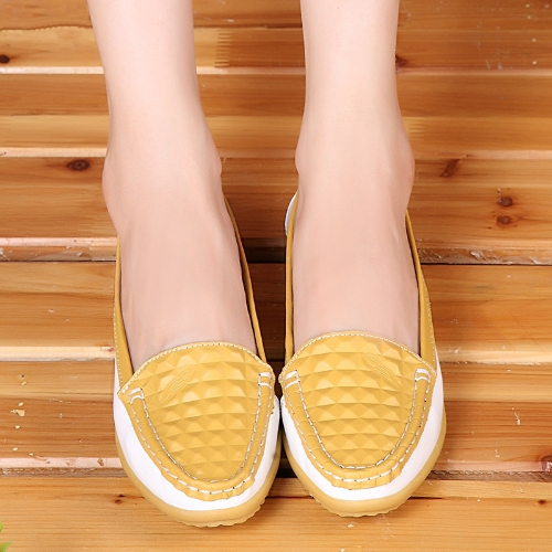 Buy Fashion Women Flats Round Toe Slip-On Color Block Skidproof Loafers Casual Shoes