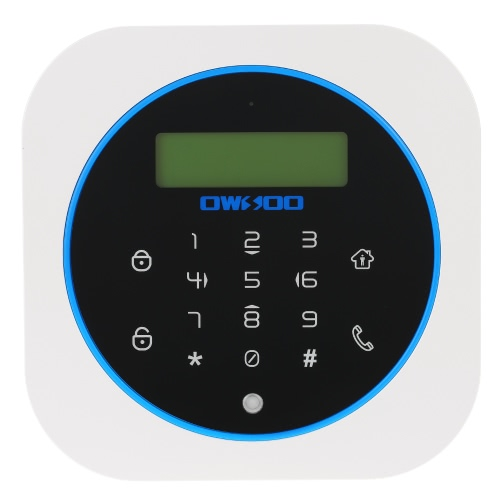 Buy OWSOO 433MHz GSM Wireless Alarm Host LCD Display Touch Keyboard Support Arm Disarm Android/IOS Phone APP Control 2G SIM Card Home House Burglar System