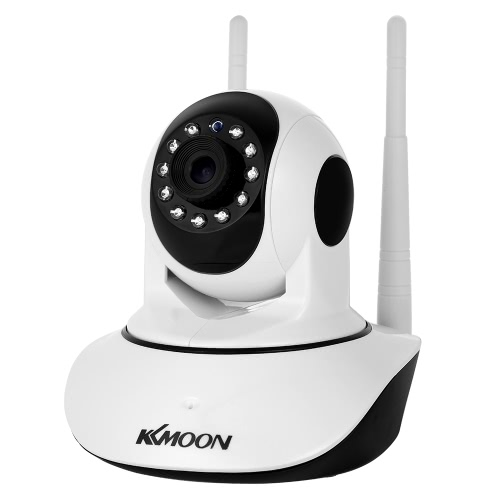 Buy KKmoon 1080P Wireless WIFI Pan Tilt HD IP Camera 2.0MP 1/2.7u201d CMOS 3.6mm Lens Support PTZ Two-way Audio Night Vision Phone APP Control Motion Detection TF Card