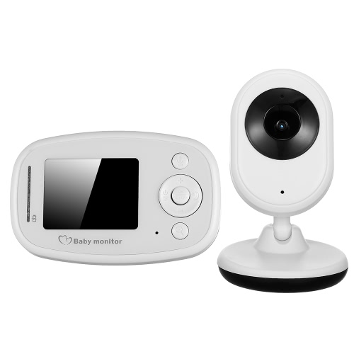 Buy 2.4'' TFT LCD Wireless Baby Monitor Two-Way Audio Portable Digital Video Color Nanny Security Camera IR Night Vision 4 Lullabies Temperature Monitoring