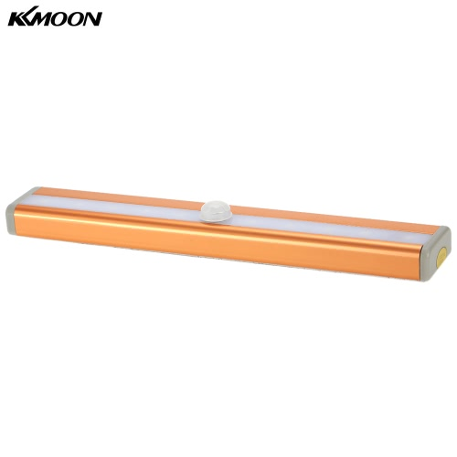 Buy KKmoon 10 LED Auto Human PIR Motion Induction Detector Light Bar Wireless Cabinet Wardrobe Closet Sensor Wall Night Lamp White