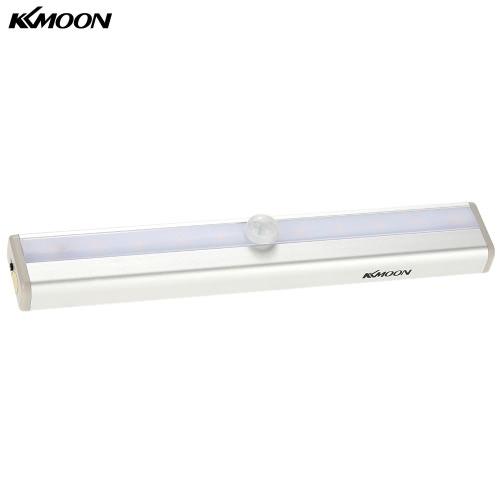 Buy KKmoon 10 LED Auto PIR Human Motion Induction Detector Light Bar Wireless Cabinet Wardrobe Closet Sensor Wall Night Lamp White