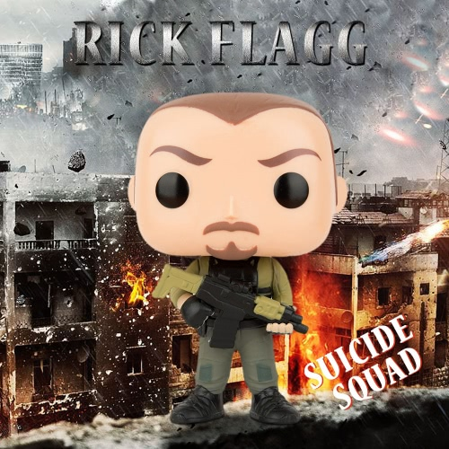 FUNKO POP Movie Suicide Squad Action Figure Vinyl Model Collection - Rick Flagg