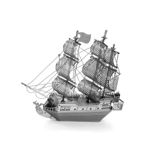 Buy 3D Puzzles Black Pearl Pirate Ship - Metal Model Kit DIY Animal Educational Toys