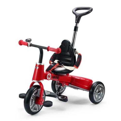 Buy Raster Foldable Kids Trolley BMW Mini Copper Children 1-3 Years Old Tricycle Stroller Baby Bike Bicycle Storage Basket