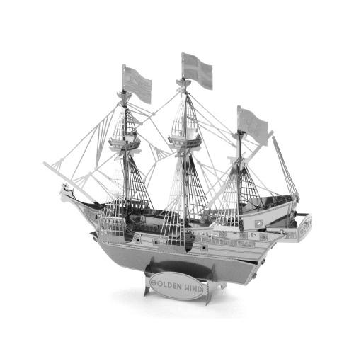 Buy 3D Puzzles Golden Hind Ship - Metal Model Kit DIY Animal Educational Toys