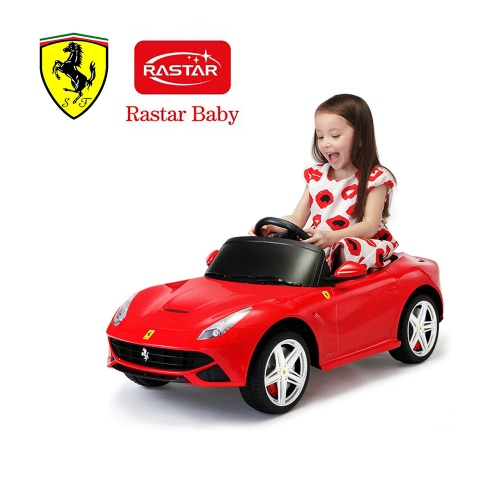 Rastar Kids 6v Electric Ride On Toy Car Ferrari F12 Four Wheel Vehicle Battery Powered Ride Parent Remote Control