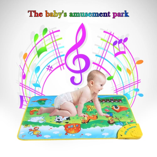 Buy Colorful Musical Learning Mat Animal Farm Flash Music Carpet Blanket Touch Toy Baby Kids 71 * 49 CM