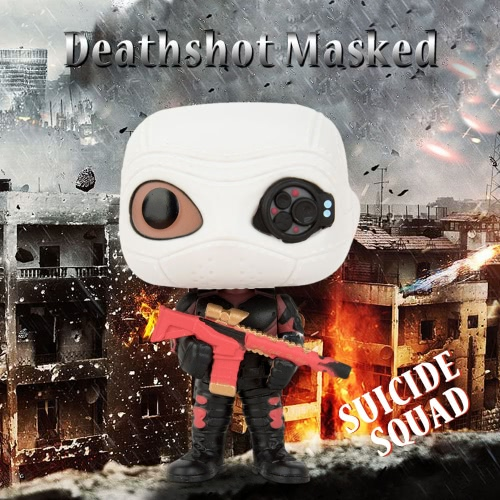 FUNKO POP Movie Suicide Squad Action Figure Vinyl Model Collection - Deadshot Masked
