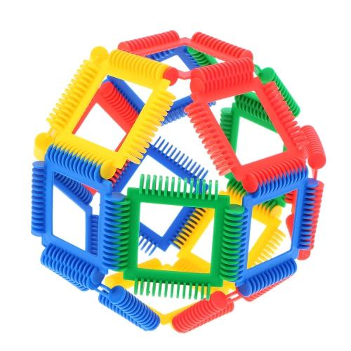 Buy Plastic 24 Pieces Geometry Blocks Building Bricks Educational Toy Baby Kids