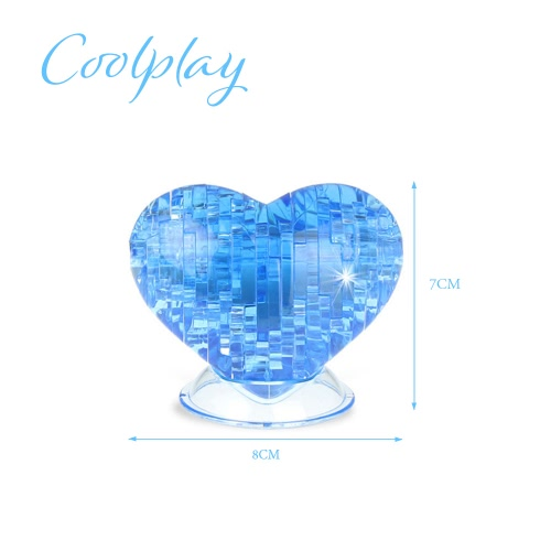 Buy Coolplay 3D Crystal Puzzle Love Shaped Model Kids DIY Building Toy