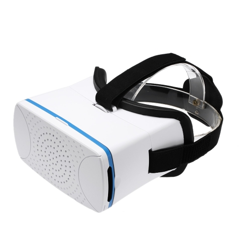 VR360 Head-Mounted Google Cardboard 3D VR Glasses Virtual Reality 3D VR Video Movies Games Glasses w/ Headband White for iPhone 6