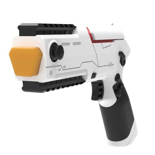 Portable PP Gun Mini Game Gun Bluetooth 4.0 Gamepad Gun-shape Smartphone Shooting Games Vibrating Gamepad DIY Toy Gun for Android iOS Phones