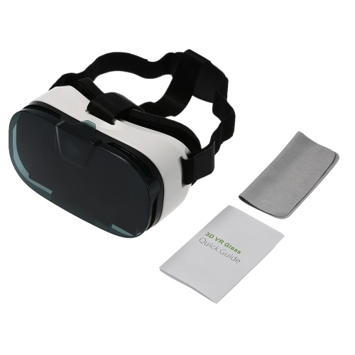 Head-Mounted Virtual Reality Glasses Headset 3D VR Glasses 3D Movie Game Universal for iPhone Samsung / All 4.0 to 6.5 Inches Android iOS Smart Phones