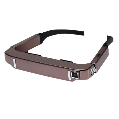 VISION-800 Smart Android WiFi Glasses 80 Inch Virtual Wide Screen Video Glasses Portable 3D Glasses Private Theater with 5MP HD Camera Bluetooth 4.0 Intelligent Media Player Rose Gold от Tomtop.com INT