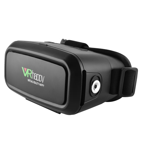 VR Happy Virtual Reality Glasses 3D VR Box Glasses Headset Universal with Magnet Ring for Android iOS Windows Smart Phones with 3.5  to 5.5 Inches