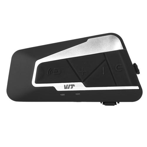 Buy T9S Motorcycle Helmet Headset Bluetooth Intercom 1000m Interphone Distance FM Radio Hands-free Mic IPX7 Waterproof Dust proof