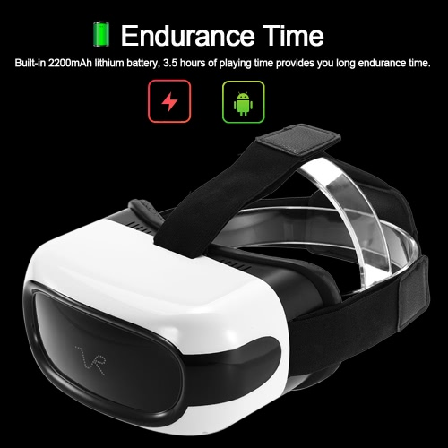 Portable VR All-in-one Machine Virtual Reality Glasses 3D Headset 2D / 3D Movie Immersive Games  Android 5.1 1G/8G 2.4G WiFi Bluetooth USB port TF Card Slot