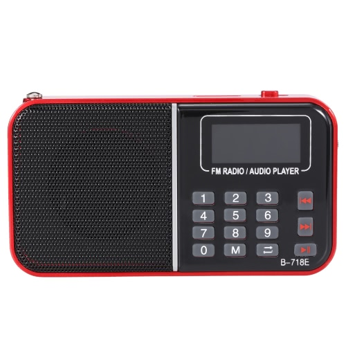 Buy BANNIXING B-718E FM Radio Speaker Digital Audio Player LED Display Stereo Music Support TF Card Playback Headphone Output Red