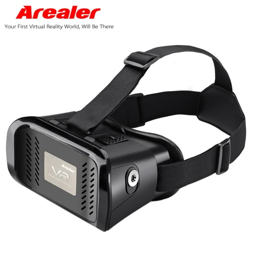 """Arealer VR Virtual Reality Glasses Headset 3D Glasses DIY 3D Movie Game Glasses w/ Magnetic Switch  Head-Mounted Headband for iPhone Samsung / All 3.5 ~ 6.0"""" Smart Phones"""