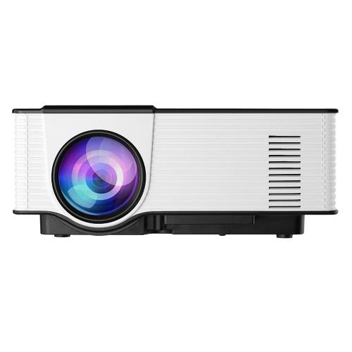 Buy VS314 LED Projector 1500 Lumens 1080P 1200 : 1 USB HD VGA AV - UK Plug Black+White