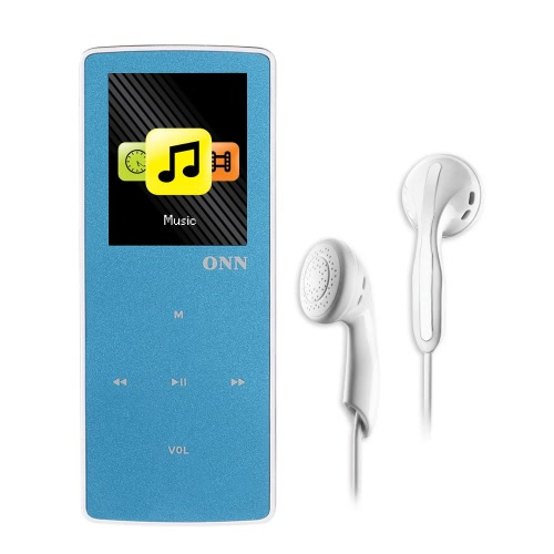 Buy ONN W6 8GB MP3 Player Bluetooth Lossless Music Support Sport Pedometer FM Radio TF Card Play 1.8 Inches Screen Blue