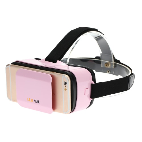 LEJI VR MINI Virtual Reality Glasses 3D VR Box 3D Movie Game Glasses Head-Mounted White for 4.5 to 5.5 Inches Android iOS Smart Phones