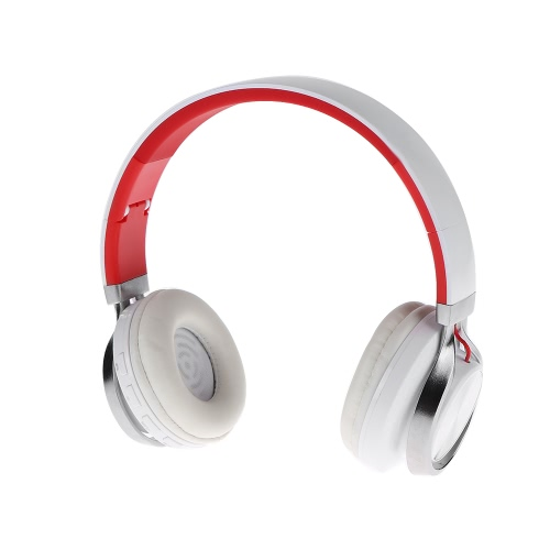 Buy A-350 Wireless Bluetooth Headset Over-ear Stereo Music Headphone 3.5mm Line-in Hands-free Mic Folding Headband Earphone White Red iPhone 6S Samsung S7 Note 5 Notebook MP3 MP4 Bluetooth-enabled Audio Devices