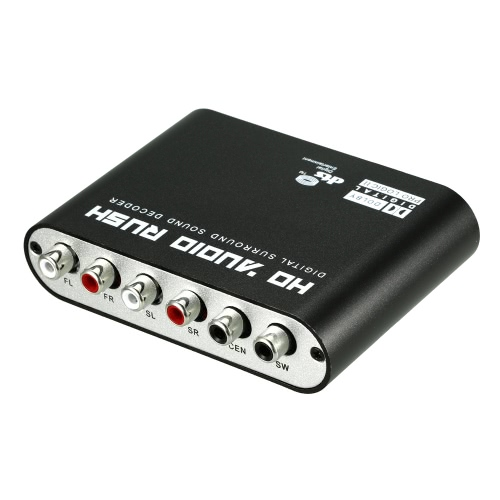 5.1 Audio Rush SPDIF Coaxial to 5.1/2.1 Channel DTS/AC-3 Audio Decoder Surround Sound Rush for STB DVD Player HD Player Xbox 360 US Plug от Tomtop.com INT