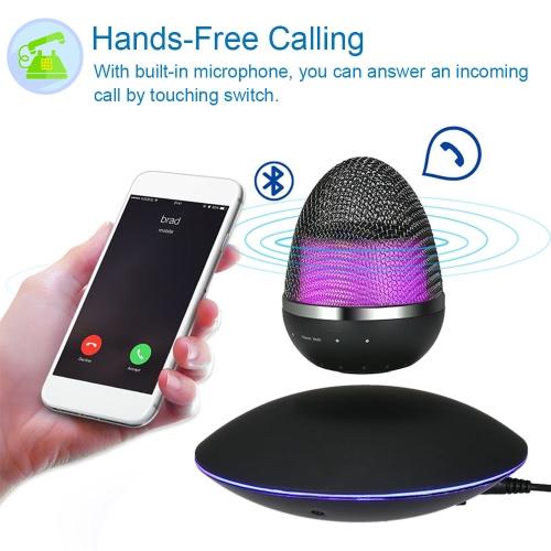 Buy M005B-23 Levitating Wireless Bluetooth Speaker Magnetic Levitation Smart LED 3D Stereo Music Player Hands-free Mic Black iPhone iPad
